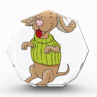Sweater Dog Sitting Up Cartoon Award