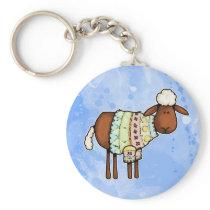 sweater sheep keychain