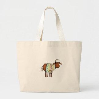 sweater sheep large tote bag