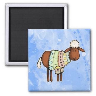 sweater sheep magnet