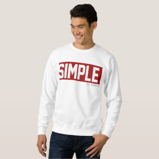 """Sweater shirt """"simple is to better"""" red"""