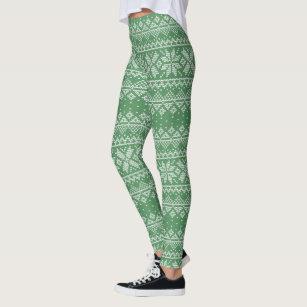 2eb56275bd711 Women's Knitted Sweater Christmas Leggings | Zazzle