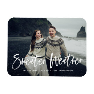 Sweater Weather | Holiday Photo Magnet