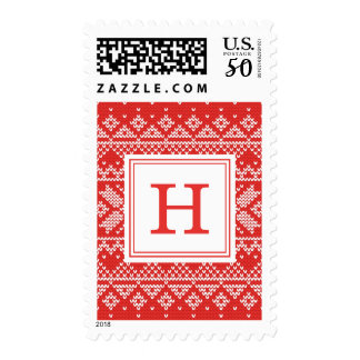 Sweater Weather | Monogram Holiday Postage