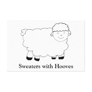 Sweaters With Hooves Canvas Print