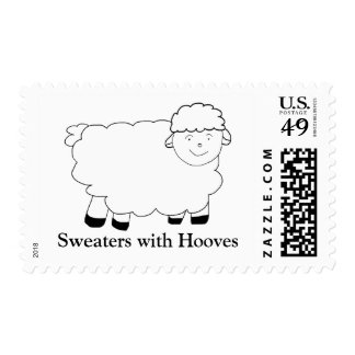 Sweaters With Hooves Postage Stamp