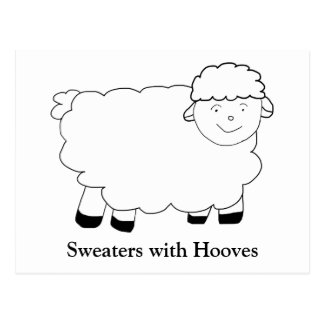 Sweaters With Hooves Postcard