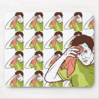 sweating man mousepad