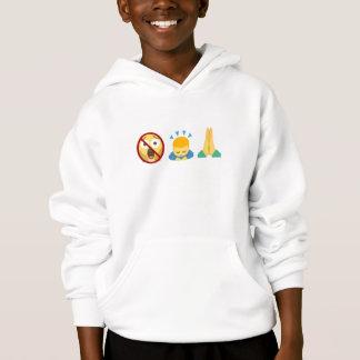 Sweatshirt: Emoji No Fear. Bow Down. Pray. Hoodie