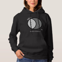 Sweatshirt hoodie Women with white text