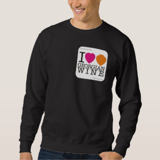 "Sweatshirt  ""I Love Georgian Wine"" Black"