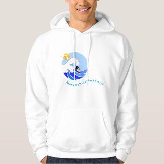 Sweatshirt (Men's): Basic Hooded, simple wave