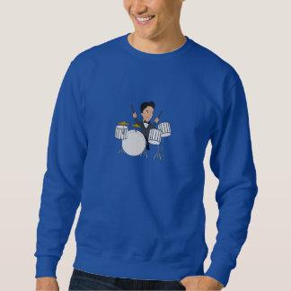 Sweatshirt with a drummer cartoon