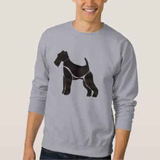 Sweatshirt with Airedale Motif