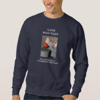 sweatshirt with farm pig Barnyard Sanctuary