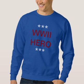 SWEATSHIRT WWII HERO RED WHITE BLUE
