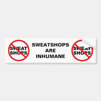 SWEATSHOPS Bumper Stickers