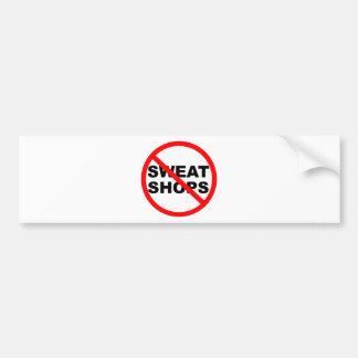 SWEATSHOPS emblem Clothing Accessories Home Bumper Sticker