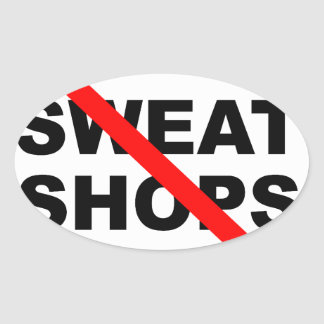 SWEATSHOPS emblem Clothing Accessories Home Oval Sticker