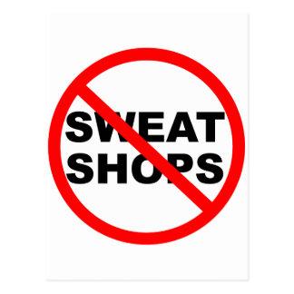 SWEATSHOPS emblem Clothing Accessories Home Postcard