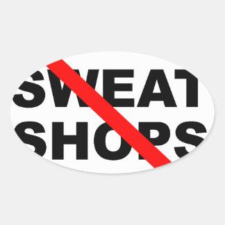 SWEATSHOPS emblem Clothing Accessories Home Sticker