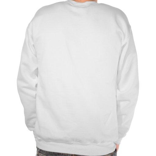 Sweatsirt con su frente y parte posterior del arte pulover sudadera