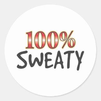 Sweaty 100 Percent Classic Round Sticker
