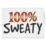 Sweaty 100 Percent Greeting Card