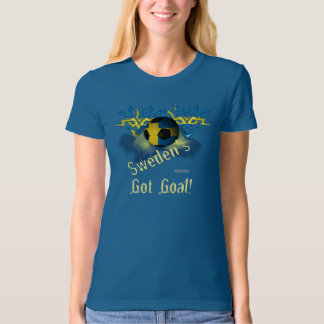 Swede Football Goal Ladies Organic T-Shirt