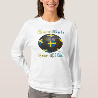 Swede Soccer Fan 4 Life Ladies Long Sleeve T-Shirt
