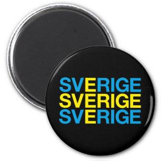 SWEDEN 2 INCH ROUND MAGNET