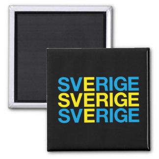 SWEDEN 2 INCH SQUARE MAGNET