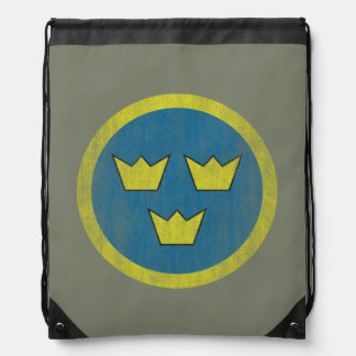 Sweden Air Force three crowns backpack