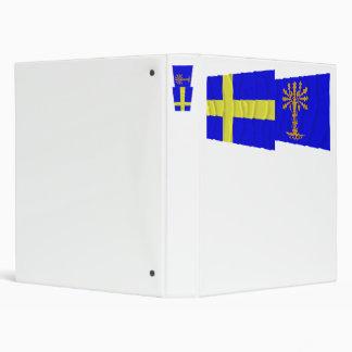 Sweden and Blekinge län waving flags Binder