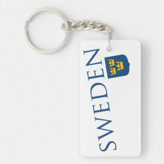 Sweden and Crest Keychain