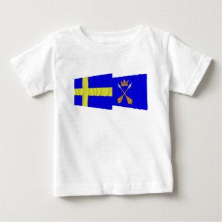 Sweden and Dalarnas län waving flags Tshirts