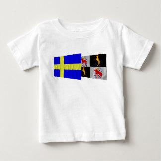 Sweden and Gävleborgs län waving flags Shirts