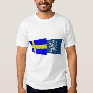 Sweden and Hallands län waving flags Tee Shirt