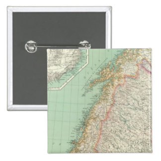 Sweden and Iceland 2 Inch Square Button