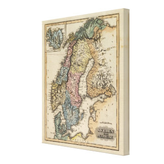 Sweden and Norway 5 Canvas Print