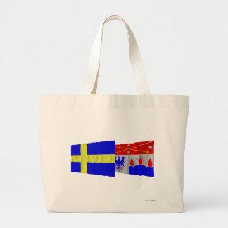 Sweden and Örebro län waving flags Canvas Bag