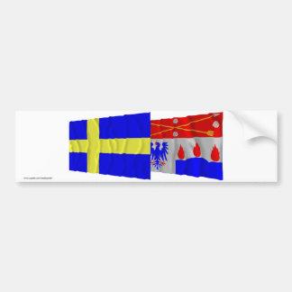 Sweden and Örebro län waving flags Bumper Sticker