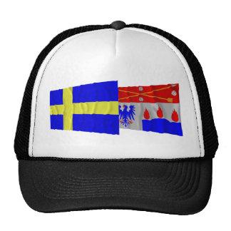 Sweden and Örebro län waving flags Trucker Hats