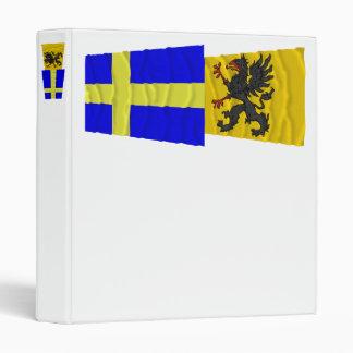 Sweden and Södermanlands län waving flags Binder