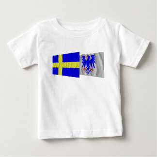 Sweden and Värmlands län waving flags Shirts
