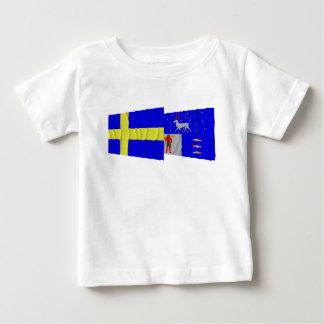 Sweden and Västerbottens län waving flags Shirt