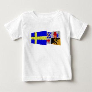 Sweden and Västra Götalands län waving flags Infant T-shirt