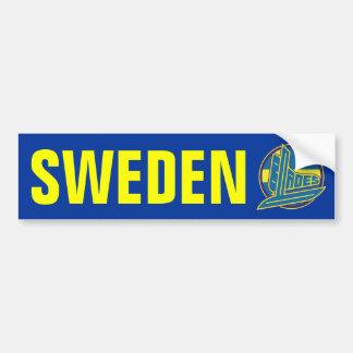 Sweden Blades Bumper Sticker