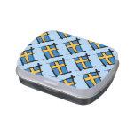 Sweden Brush Flag Candy Tin