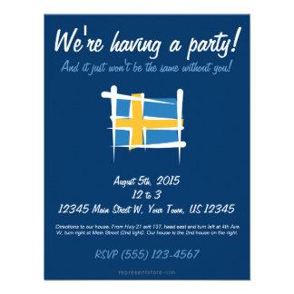 Sweden Brush Flag Custom Invite